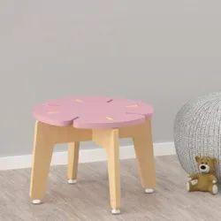 Pink 14 X 14 X 10 Inch(L*W*H) Nursery School Stools, Weight: 2.1 Kg