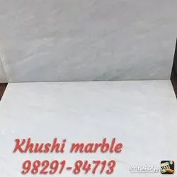 Polished Finish Square White Marble Slab, Thickness: 15 mm