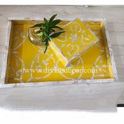 Mother Of Pearl Inlay Tray