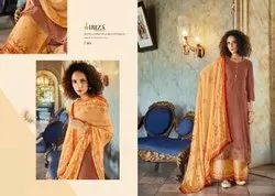Unstitched Ladies Embroidered Suit