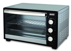 Stainless Steel Black,Grey 19L Boss Desire Oven Toaster Griller OTG, For Personal, 1380 Watts