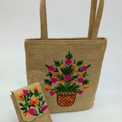Plain Brown Jute shopping Bag, Capacity: 10KG, Size: Size: 13- By 17.5- By 8- Inch