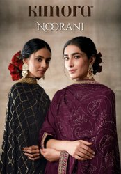 Kimora Noorani Chinon Chiffon With Mukaish Work Designer Suit Catalog