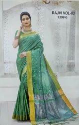 Party Wear Printed Paithani Silk Saree, 5.5 m (separate blouse piece)