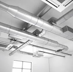 Mild Steel HVAC Ducting System, For Industrial Use
