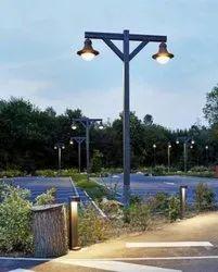 Decorative MS Square Lighting Pole