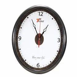 Black Analog Oval Wall Clock