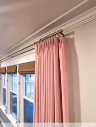 Plain Pink Living Room Curtain, For Home