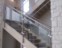 Stainless Steel Glass Railing, Material Grade: Ss 304