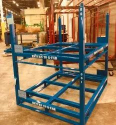 Blue Powder Coated MS Industrial Stacking Rack, For Warehouse