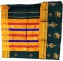 Party Wear Ladies Cotton Embroidery Saree, With Blouse Piece, 6.3 M