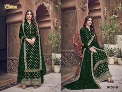 Pakistani Semi-Stitched Unstitched Salwar Suit, Dry Clean