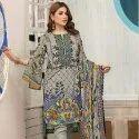 Low Range Cotton Print Unstitched Salwar Suit -6 Pcs