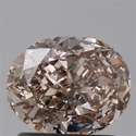 Oval 1.23ct Fancy Pink Brown SI1 GIA Certified Natural Diamond