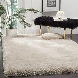 Microfiber Plain Bedroom Micro Silk Carpet, Size: 4x6 Feet