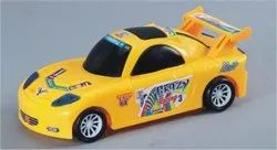 Yellow Crazy Racing 3 Plastic Toy Car, No. Of Wheel: 4 Wheel