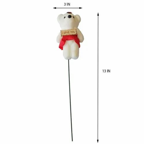 Fabric I Love You Teddy Stick, For Gift