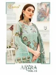Cosmos Aayra Vol 13 Georgette With Embroidery Work Pakistani Suit Catalog
