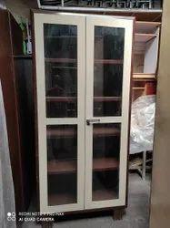 CROWN Brown LIBRARY GLASS DOOR ALMIRAH, Size: 78*36*19