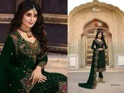 Churidar 4 Color Designer Faux Georgette Churidar Salwar Kameez, Dry clean