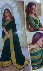 Party Wear Traditional Designer Silk Saree, 6.3 m (with blouse piece)