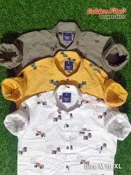 Golden Fiber Cotton Mens Printed Shirt