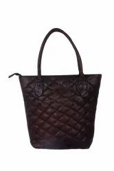 Brown Leather Hand Bag, For College, Gender: Women