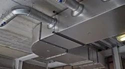 AC Square Gi Ducting Service, For Commercial