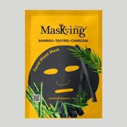 MASKING - BAMBOO + TEATREE + CHARCOAL FACIAL SHEET MASK