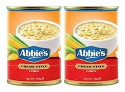 Yellow abbie's cream style corns, usa, Packaging Type: can