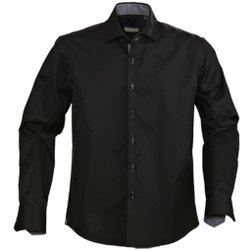 Formal Wear Cotton Men Black Casual Shirt