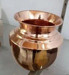 Polished Plain COPPER LOTA, For Home, Size: 5