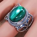Beautiful 925 Sterling Silver Jewelry Malachite Gemstone Ring SJWR-693