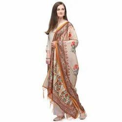 Ladies Tussar Silk Printed Dupatta