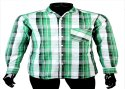 Jpnd Collar Neck Mens Cotton Checkered Shirts