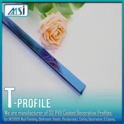 T-Profile Blue Mirror (6mm & 8mm) Available