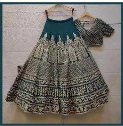 Presentsatin  With Embroidery Work Wedding Lahenaga Choli