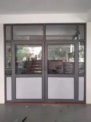 Powder Coated Aluminium Swing Door, For Office