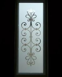 Smoky White Figured Designer Door Glass, For Home, Thickness: 4 Mm