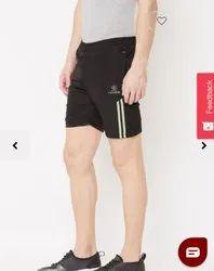Narvey Black Polyester Mens Shorts