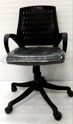 Fabric Mesh Revolving Chair, Black
