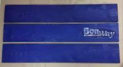 Rubber Blue WOOD PLANK CONCRETE TEXTURE MAT