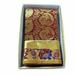 Real Zari Gold Handloom Kanchipuram Silk Sarees, With Blouse Piece, Hand Made