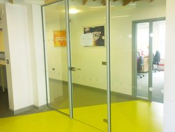 Hinged Plain Toughened Glass Door, For Office, Thickness: 10 Mm