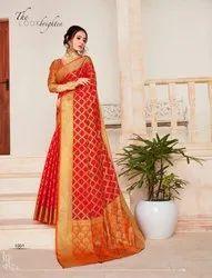 Fancy Top Dyed Saree