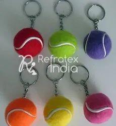 Ball type Pom Pom Keyrings