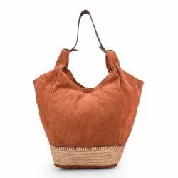 jhanji export Ladies Handbag Suede Leather Hand Bags, For Daily Use, Gender: Women