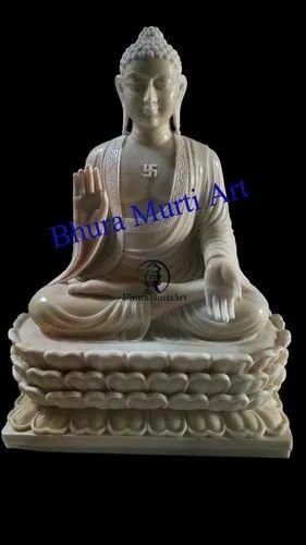 Makrana Marble Buddha Statue