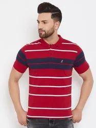 Harbor N Bay Men's Red Striped T Shirts