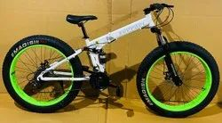 White Ferrari Fat Tyre Foldable Cycle
